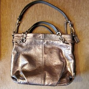 COACH metallic Brooke convertible hobo bag - NICE!